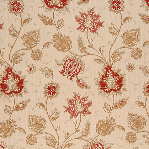 Buy Voyage Meribel Furnishing Fabric, Red Online at johnlewis.com