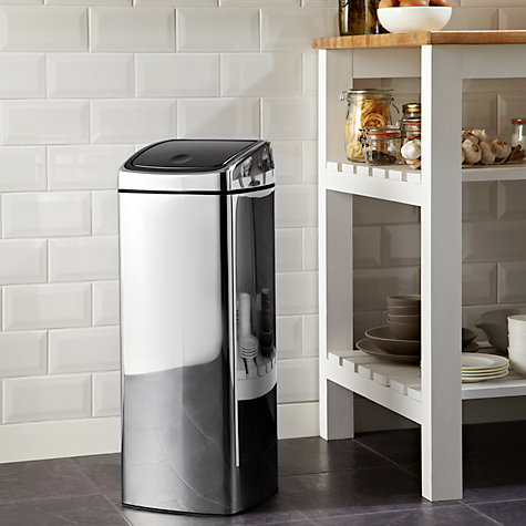 Buy Brabantia Rectangular Touch Bin, Brilliant Steel, 25L Online at johnlewis.com