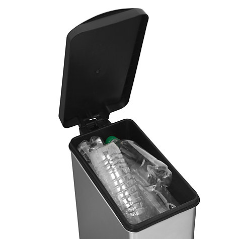Buy simplehuman Profile Pedal Bin with Plastic Lid, Brushed Stainless Steel, 10L Online at johnlewis.com