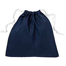 Buy School Linen Shoe Bag, Navy Online at johnlewis.com
