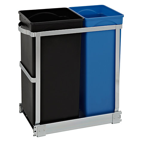 Buy simplehuman Pull-Out Recycler Bin 20/15 litre Online at johnlewis.com