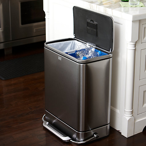 Buy simplehuman Rectangular Steel Bar Recycler, 48L Online at johnlewis.com