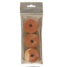 Buy John Lewis Cedarwood Rings, Pack of 6 Online at johnlewis.com