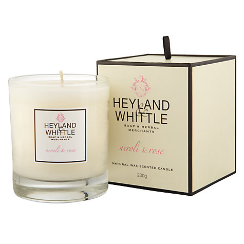Buy Heyland & Whittle Neroli & Rose Candle Online at johnlewis.com