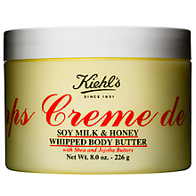 Buy Kiehl's Creme de Corps Soy Milk & Honey Whipped Body Butter Online at johnlewis.com