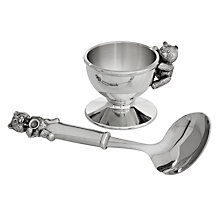 Buy Royal Selangor Pewter Teddy Egg Cup & Spoon Online at johnlewis.com