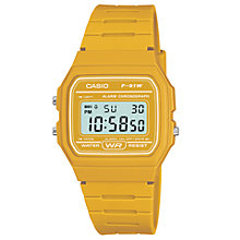 Buy Casio F-91WC-4AEF Unisex Core Digital Chronograph Rectangular Dial Rubber Strap Watch Online at johnlewis.com