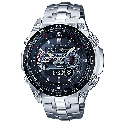 Buy Casio EQW-M300EDB-1AER Edifice Wave Ceptor Chronograph Bracelet Watch Online at johnlewis.com