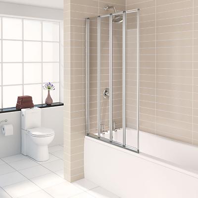 John Lewis 4 Fold Shower Screen
