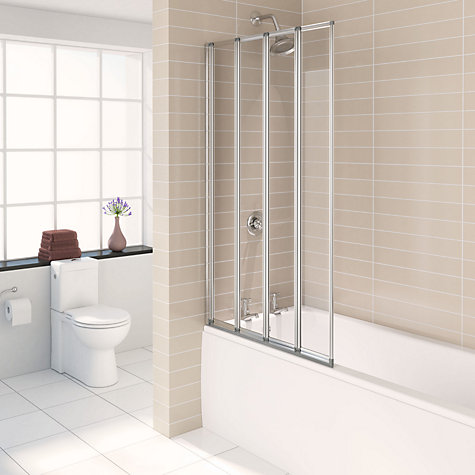 Buy John Lewis 4 Fold Shower Screen Online at johnlewis.com