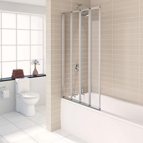 Buy john lewis 4 fold shower screen john lewis for John lewis bathroom wallpaper