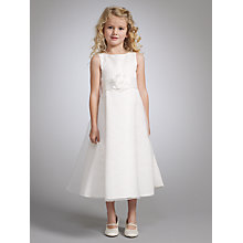 Buy John Lewis Girl Organza Beaded Neck Dress, Ivory Online at johnlewis.com