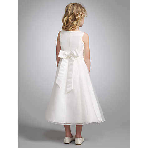 Buy John Lewis Girl Organza Beaded Neck Bridesmaid Dress, Ivory Online at johnlewis.com