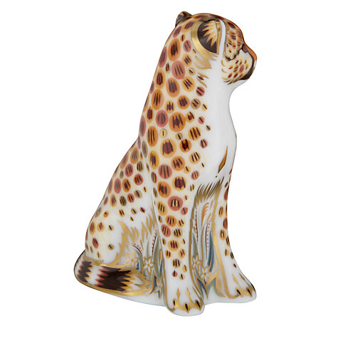 Buy Royal Crown Derby Cheetah Cub Paperweight Online at johnlewis.com