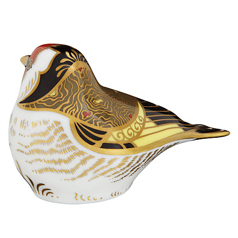 Buy Royal Crown Derby Goldfinch Paperweight Online at johnlewis.com