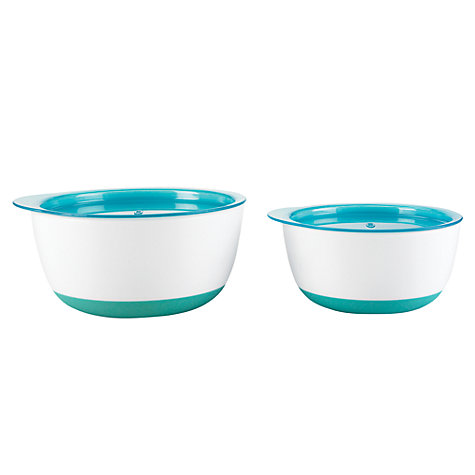 Buy OXO Tot Large and Small Bowl Set, Blue Online at johnlewis.com