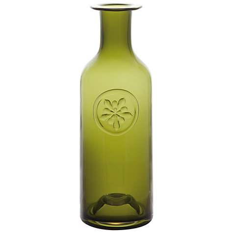 Buy Dartington Crystal Flower Bottle Vase, Green Aquilegia Online at johnlewis.com