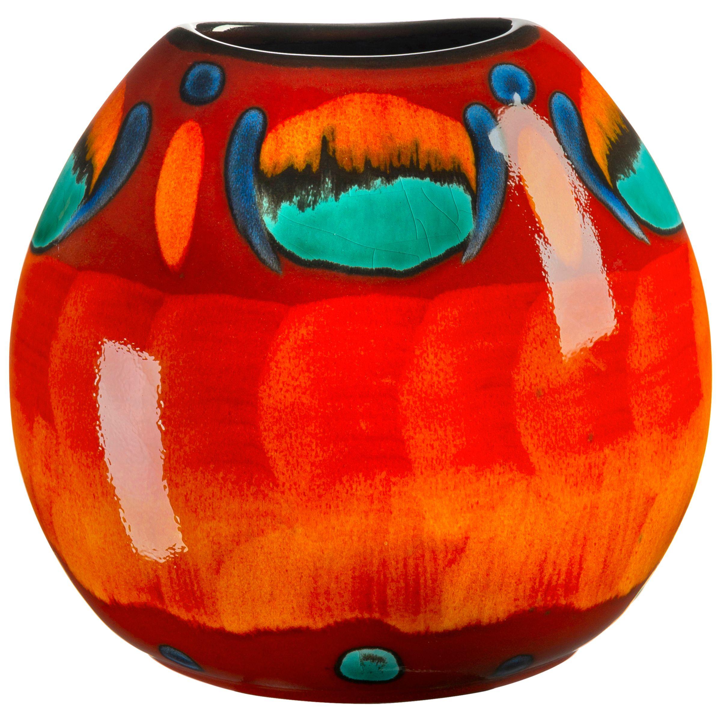 Poole Pottery Poole Pottery Volcano Purse Vase, H20cm