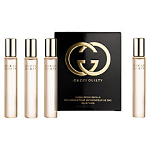 Buy Gucci Guilty Eau de Toilette Purse Spray Refills, 4 x 15ml Online at johnlewis.com