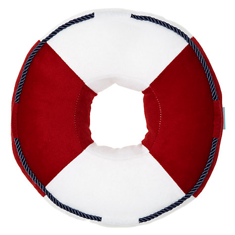 Buy little home at John Lewis Ahoy There Lifesaver Cushion Online at johnlewis.com