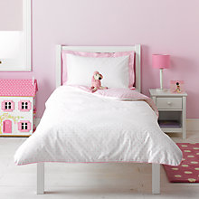Buy little home at John Lewis Little Blossoms Spot Duvet Cover and Pillowcase Set Online at johnlewis.com