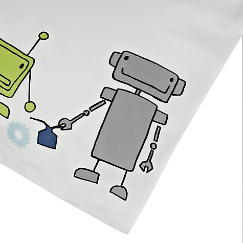 Buy little home at John Lewis Robots and Rivets Duvet Cover and Pillowcase Set Online at johnlewis.com