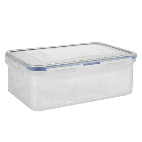 Buy Lock & Lock 3 Compartment Storage Container, 1L Online at johnlewis.com