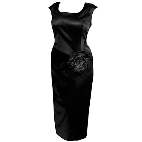 Buy Chesca Corsage Trim Dress, Black Online at johnlewis.com
