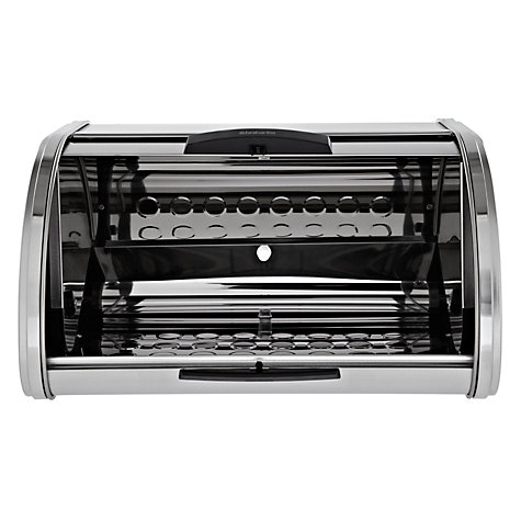 Buy Brabantia Touch Bread Bin Medium, Matt Steel Online at johnlewis.com