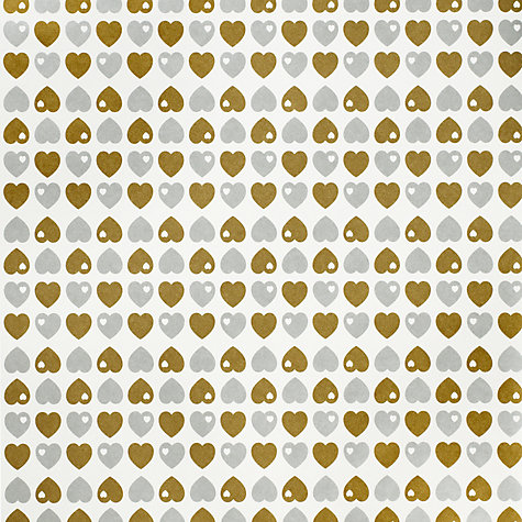 Buy John Lewis Hearts Wrapping Paper, White/Silver/Gold, L3m Online at johnlewis.com