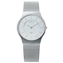 Buy Skagen 233LSS Men's Grey Steel Mesh Bracelet Watch Online at johnlewis.com