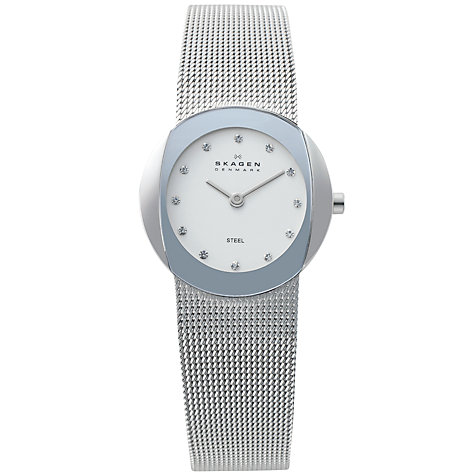 Buy Skagen 589SSS Women's Steel Mesh Bracelet Watch Online at johnlewis.com
