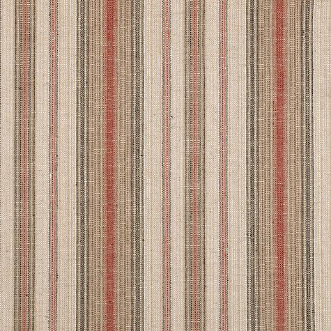 Buy John Lewis Pianosa Stripe Furnishing Fabric Soft Red
