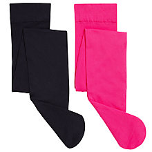 Buy John Lewis Girl Opaque Tights, Pack of 2, Pink/Navy Online at johnlewis.com