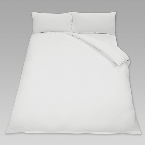 Buy John Lewis Washed Linen Duvet Cover, White Online at johnlewis.com