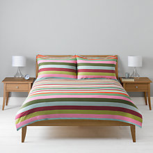 Buy John Lewis Linea Stripe Standard Pillowcase, Duck Egg Online at johnlewis.com