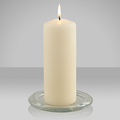 Buy John Lewis The Basics Ivory Pillar Candles Online at johnlewis.com