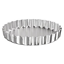 Buy John Lewis Satin Hard Anodised Fluted Flan Tin, 23cm Online at johnlewis.com