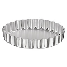 Buy John Lewis Satin Anodised Deep Fluted Flan Tin, 21cm Online at johnlewis.com