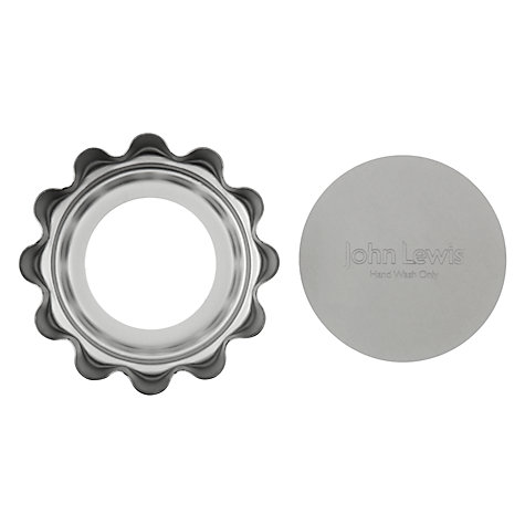 Buy John Lewis Satin Anodised Mini Quiche Tins, Set of 4 Online at johnlewis.com