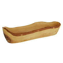 Buy Rustic Olive Wood Bread Basket Online at johnlewis.com