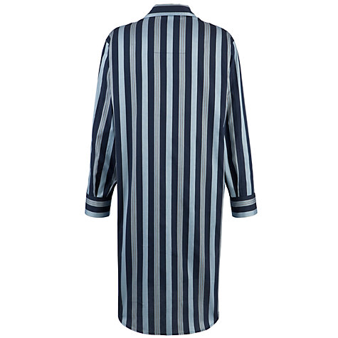 Buy Derek Rose Savile Collection Stripe Nightshirt, Navy/Blue Online at johnlewis.com