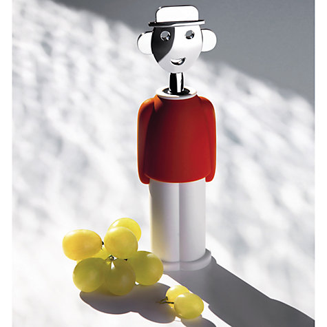 Buy Alessi 'Alessandro M' Corkscrew, Red Online at johnlewis.com
