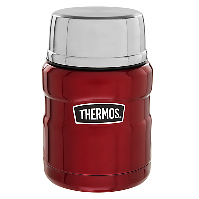 Thermos Vintage Food Flask, 470ml, Red