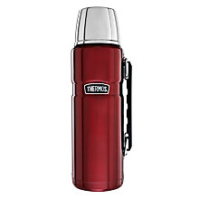 Buy Thermos Vintage Flask, 1.2L, Red Online at johnlewis.com