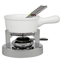 Buy John Lewis Ceramic Fondue Set, White Online at johnlewis.com