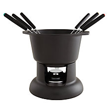 Buy Cast Iron Fondue Set, Black Online at johnlewis.com