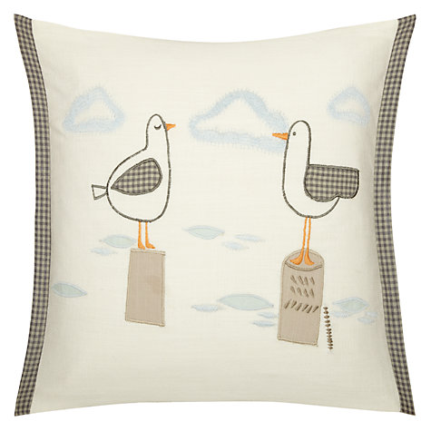 Buy John Lewis Seagulls Cushion, Blue Online at johnlewis.com