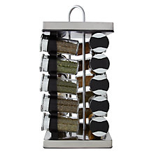 Buy John Lewis 20 Jar Revolving Square Spice Rack Online at johnlewis.com