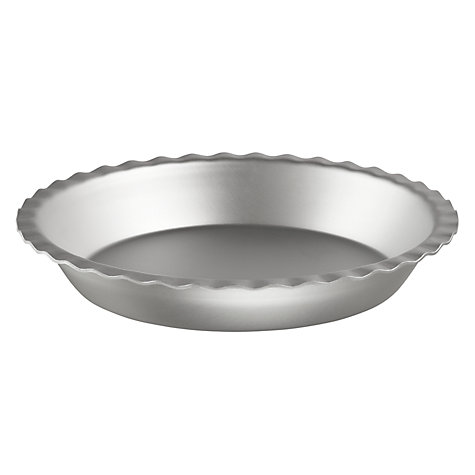 Buy John Lewis Satin Anodised Fluted Pie Dish, 23cm Online at johnlewis.com